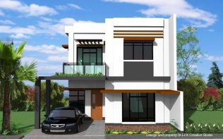 Modern and minimalist house design. Clean, simple and elegant.